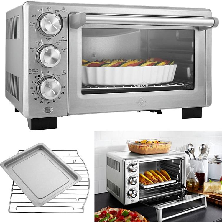 turbo convection toaster oven stainless steel broil