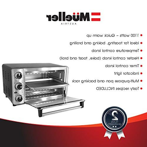 Toaster Multi-function Steel with Bake - Broil Natural Convection - Watts Power, Baking and by Austria