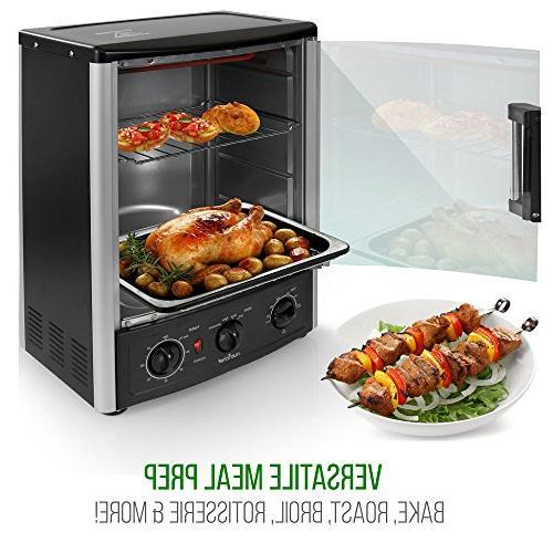 Nutrichef Rotisserie Oven - Oven with Bake, Rack 2 1500 - PKRT97