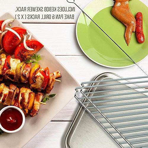 Oven - Vertical Oven Thanksgiving, Broil Roasting Rack with Settings, 2 - PKRT97