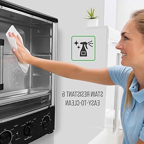 Nutrichef Upgraded Multi-Function Oven with Bake, Turkey Thanksgiving, Broil Roasting Rack Adjustable 2 Shelves 1500 -