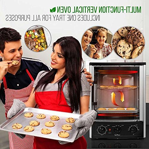 Nutrichef Oven Oven Thanksgiving, Kebab Rack with Settings, 2 Shelves -