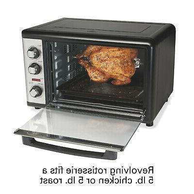 Hamilton Beach XL Oven With Rotisserie Steel Countertop