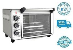 New 6 Slice Toaster Oven Stainless Steel Convection Countert