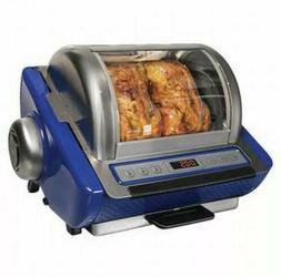 New Ronco Blue Chicken Rotisserie EZ-Store Showtime Oven 525