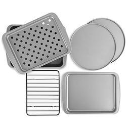 OvenStuff NonStick 6Piece Toaster Oven Baking Pan Set, New,
