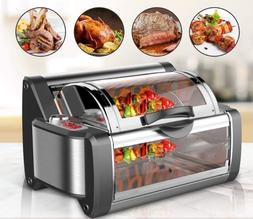 NutriChef Countertop Rotisserie Oven - Roaster Oven Kitchen