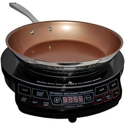 NuWave Portable Induction Cooktop & 10.5 Inch Pan