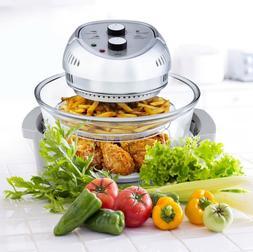 Big Boss Oil-Less Fryer 16-Quart 1300-Watt Silver Kitchen He