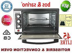 1800W Convection Rotisserie Roaster Oven 45L Smart Individua