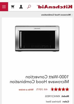 """KitchenAid """"Over The Range"""" Microwave Convection Oven 1000 w"""