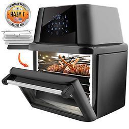NutriChef PKAIRFR96 Air Fryer Oven Dehydrator Rotisserie, 18