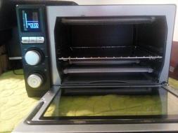 precision control countertop oven matte black