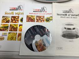 NuWave Pro Infrared Oven Recipe Books Cookbooks Manual  DVD
