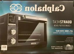 Calphalon Quartz Heat Countertop Oven, Dark Stainless Steel,