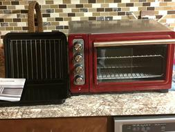 Red KitchenAid Convection Toaster Oven