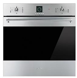"Smeg SF399XU 24"" Classic Single Wall Oven with 10 Cooking Mo"