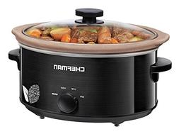 Chefman Slow Cooker, All Natural XL 6 Qt. Pot, Glaze-Free, S