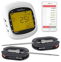 Smart Bluetooth BBQ Grill Thermometer - Upgraded Stainless D