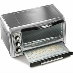 Stainless Steel Convection 6 Slice Easy Reach Toaster Oven B