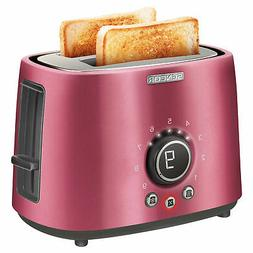 Sencor STS 6054RD Electric Wide 2 Slice High Lift Toaster w/
