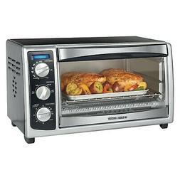 Black & Decker TO1675B 6-Slice Toaster Oven, Black...New, Fr