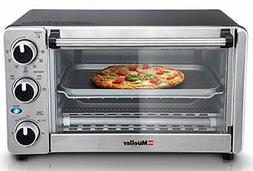 Toaster Oven 4 Slice, Multi-function Stainless Steel with Ti