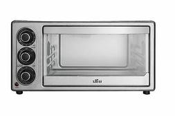toaster oven broiler 6 slice stainless steel