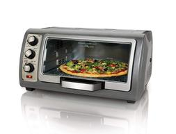 Toaster Oven Hamilton Beach Countertop, Roll-Top Door, 6-Sli
