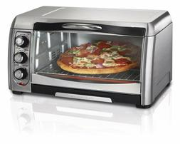 Hamilton Beach Toaster Oven Stainless Bake Broil Large Pizza