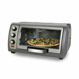 Hamilton Beach Toaster Ovens 31123D Easy Reach Oven, Silver