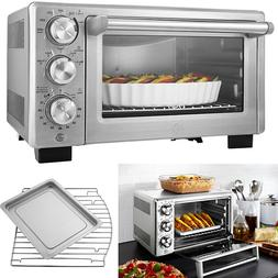 Turbo Convection Toaster Oven Stainless Steel Broil Bake Kit