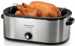 Turkey Roaster Oven 28 lb Electric Slow Cooker Stainless Ste