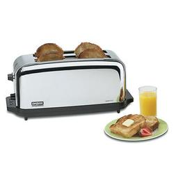 Waring WCT704 Toaster Chrome Commercial 4 Slice w/ Two 1-3/8